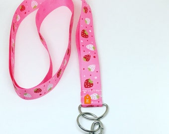 Gift for teacher,  badge holder, ID holder, key holder, ribbon lanyard, fashion lanyard, gift ideas, gift for her, cute lanyard