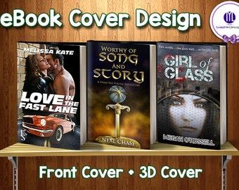 Custom Book Cover Design, Custom Ebook Cover, Custom Kindle Cover, Custom Front Book Cover, 3D Cover
