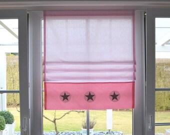 Roman shade pink
