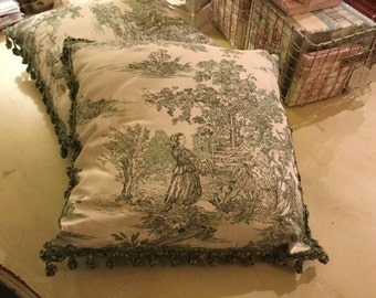 Pillows toile de jouy
