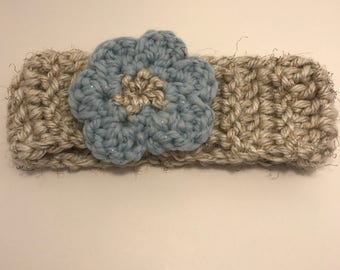 Girls Crocheted Flower Headband