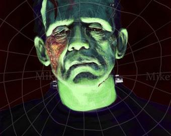 Boris Karloff as Frankenstein in The Bride of Frankenstein by Mikey Sevier