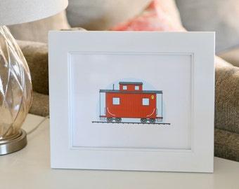 Train Caboose Art Print