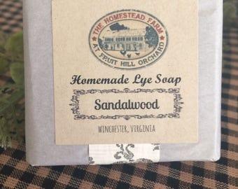 Sandalwood Lye Soap Homemade Bar Soap Homestead Farm