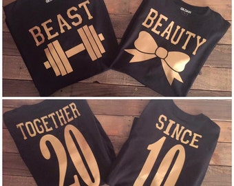 Beauty and Beast Couples Shirts