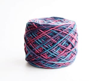 Blue Purple Pink Worsted Rainbow Yarn Malabrigo Worsted Yarn **Cuarenta 237 CLEARANCE