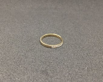 14k Yellow Gold Ring Gold Ring with Diamonds Wedding Ring