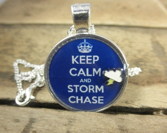 Keep Calm and Storm Chase, Storm Chase Earrings, Storm Chase Jewelry, Meteorologist, Weather Jewelry