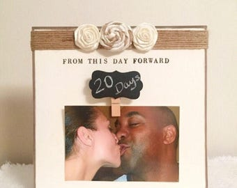 Wedding countdown frame, engagement frame, wedding frame, wife gift, wedding gift, anniversary gift, wedding count personalized wedding gift