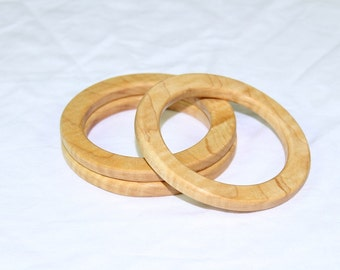 Custom  wooden Bracelet/Bangle/Christmas gift for her/fine wood jewelry/fine jewelry *Bang. Maple 6-8