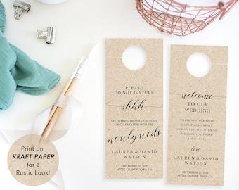 Wedding Door Hanger, PrintableTemplate, Do Not Disturb Door Hanger, Wedding Door Tags, Wedding Favor, PDF Instant Download, Wedding Ideas