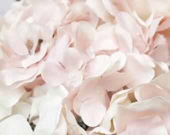 Hydrangea Bouquet, Blush Bridal Bouquet, Blush Wedding Flowers, Hydrangea Wedding Flowers, Boutonniere, Pastel Bouquet, Pastel Flowers