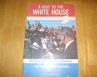a visit to the white house the president greets young america  book 1964 free shipping in u s a