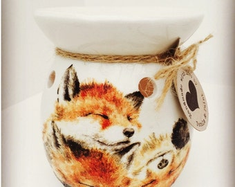 Handmade Fox Wax Oil Burner