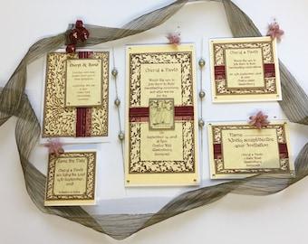 Pagan Handfasting Invitation Set 003