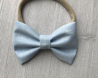 Classic Blue Baby Bow - Baby Headband - Baby Bow Tie - Bowtie for Kids - Spring Accessories