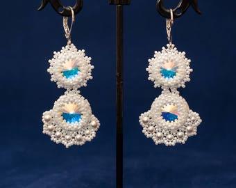 Summer earrings, Long earrings, Beaded earrings, present for her, women's earrings, gift for wife, Christmas gift, wedding earrings