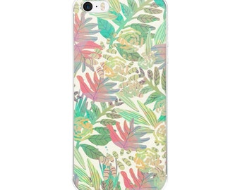 Iphone 6 Case Clear, Iphone 6 Case Tropical, Iphone 5s Case Hipster, Iphone Case Clear, Iphone 5 Case Tropical, Tropical Phone Case, Gift
