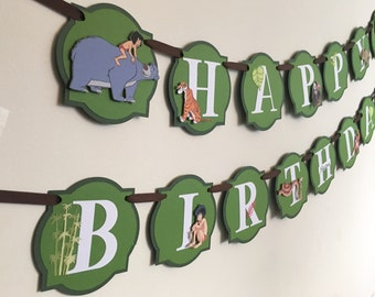 The Jungle Book Birthday Banner / Happy Birthday Banner / Jungle Book Party Decor