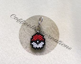 Tiny Pokeball zipper charm