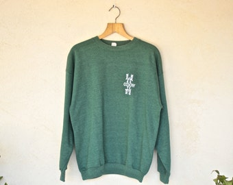 Retro Oxbow Green Jumper - Size Extra Large