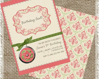 Printable Girls Birthday Card