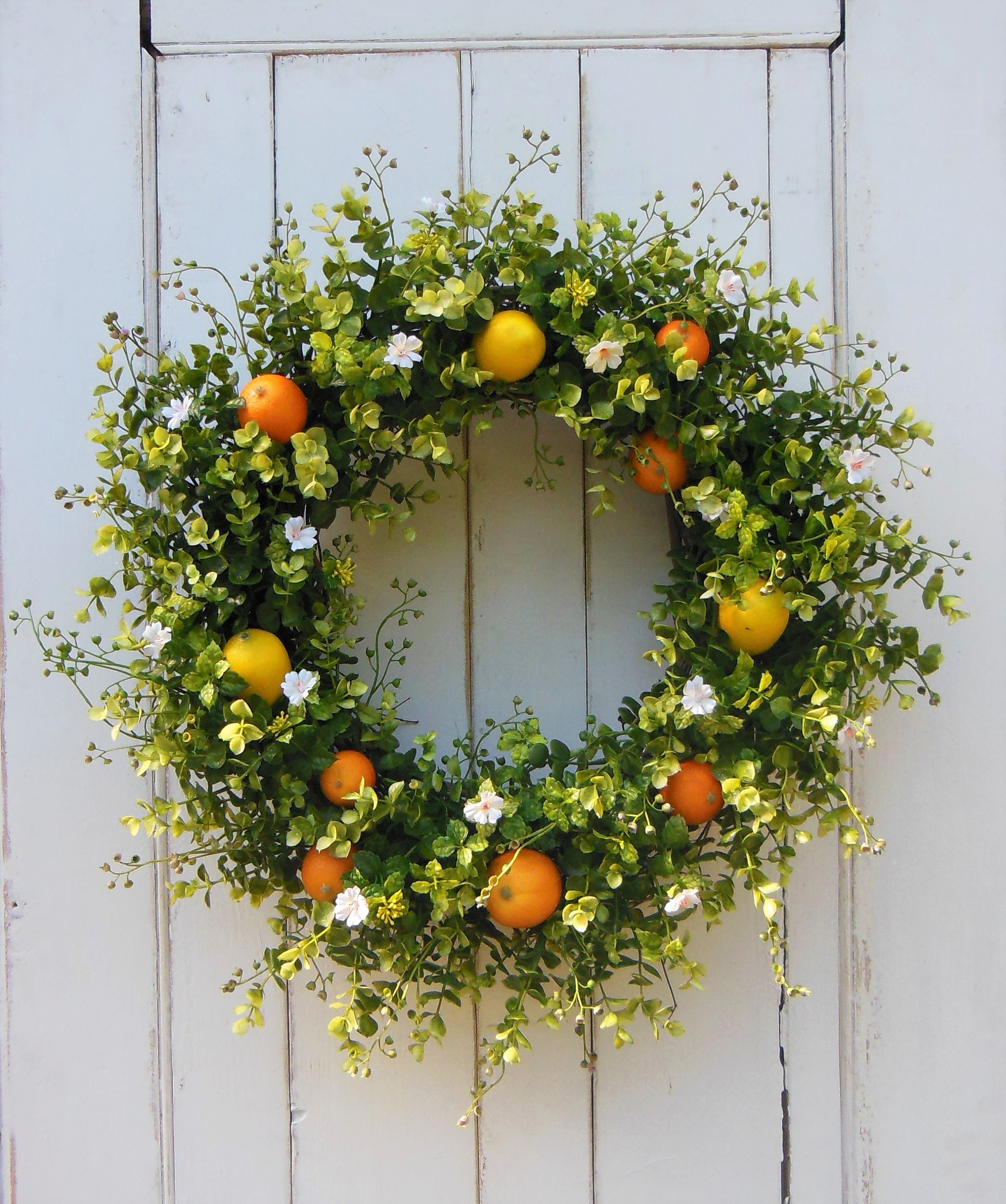 Summer Wreath, Summer Wreath For Front Door, Summer Front Door Wreath,  Lemon Wreath, Citrus Wreath, Oranges Wreath, Front Door Wreath,Wreath