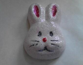 Mischievous Max. Bunny Shaped Strawberry Float Bath Bomb. Foaming Bath Bomb.