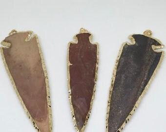 Large Jasper Arrowhead Pendant