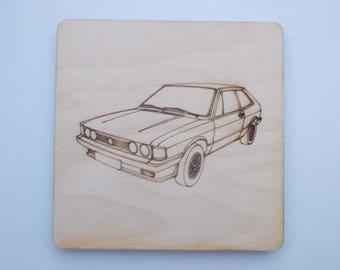 Scirocco Coaster - Etched wood