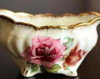 Mini Open Sugar Bowl - Hammersley Bone China Morgans Rose