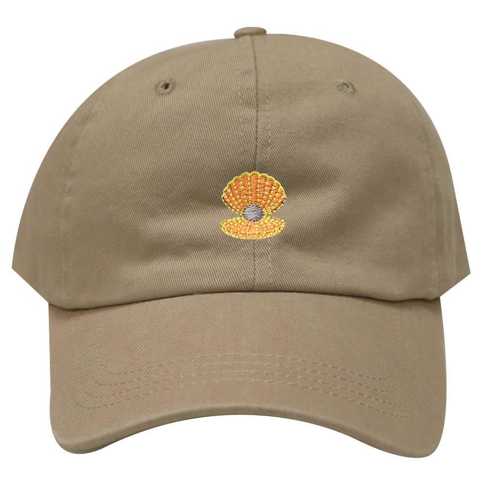 696928c8acd Capsule Design Seashells Cotton Baseball Dad Cap Khaki