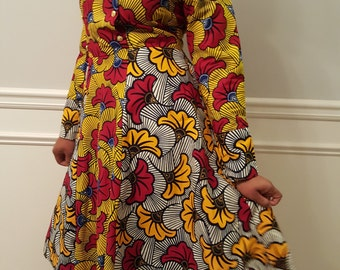 African Print Mix-Match Dress