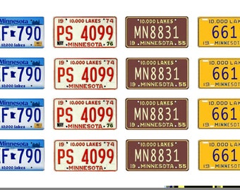 scale model car  Minnesota license tag plates