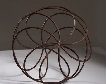 Raw Steel Rusty Garden Sphere / Ball