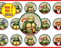 Teenage Mutant Ninja Turtles Bottle Cap Images - Bottle Cap Images - Instant Download - High Resolution Images - Buy 3, Get 1 FREE