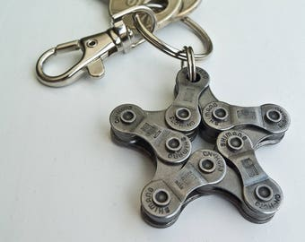Upcycling Bike Keychain Star