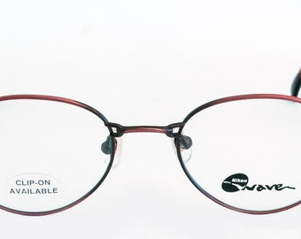 Vintage NIKON 7420 Ladies Glasses Frames In Antique Red Finish