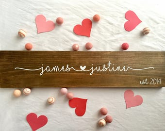 Personalized Wood Sign - Personalized Wedding Gift - Wedding Gift - Wedding Sign - Wedding Decor - House Warming Gift - Anniversary Gift