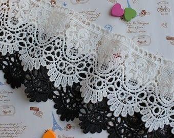 2 Yard Vintage style Cotton Crochet Lace Trim,Crochet Lace Ribbon Lace Trim Crochet Trim White Crochet Lace Trim Embellishment Wedding Lace