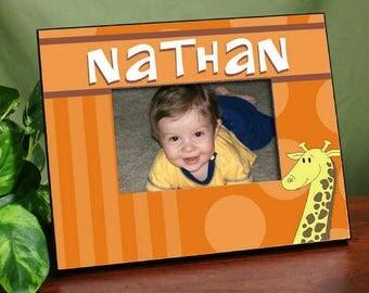 Personalized Giraffe Printed Frame Custom Name Gift