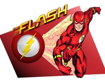 Justice League The Flash Edible Cake & Cupcake Topper