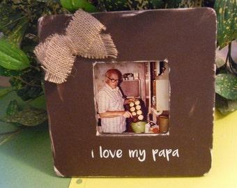 papa photo frame frame for papa designed papa frame papa gift gift for papa papa personalized frame grandpa frame