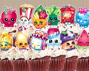 Instant Download Shopkins Cupcake Toppers - Shopkins Cupcakes - Digital Print - Shopkins Cake Toppers - You Print - Shopkins Party