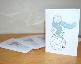Hexy Snowman Christmas Greetings Card
