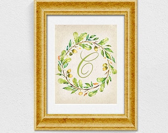 Printable letter C wall decor INSTANT DOWNLOAD