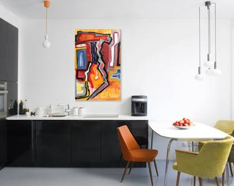 Abstract painting Original painting Abstract Painting Abstract Modern Miami Modern Loft Decor Art Contemporary
