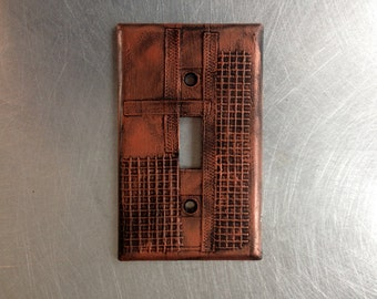 Steampunk Industrial MetalLight Switch Cover