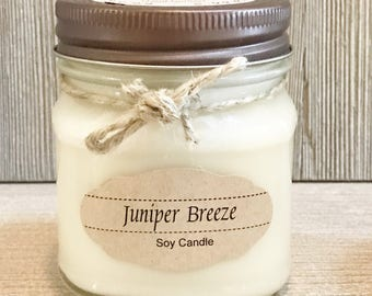 Juniper Breeze Candle / Soy Candle /  Aromatherapy Candle
