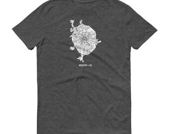 Moscow Shirt, Moscow, Russia, Moscow TShirt, Moscow Gift, Moscow Map, Moscow Tee, Russia Shirt, Russia Map, Russian Art, Russia Gifts